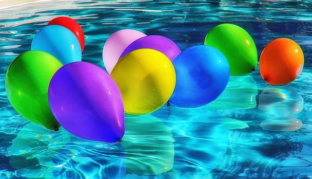 balonky na hladině